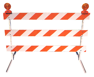 road construction barricade