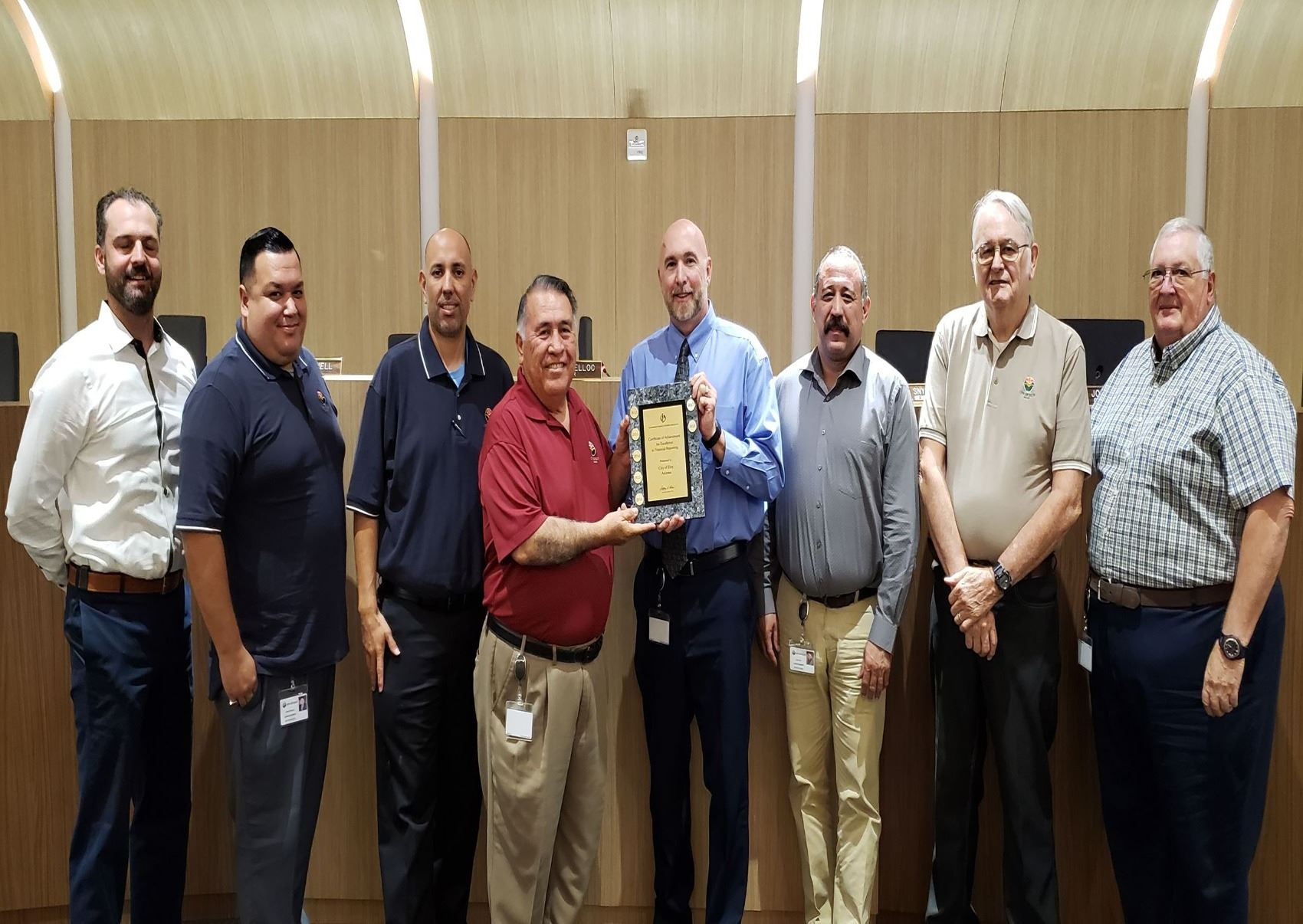 Council Receiving CAFR Award