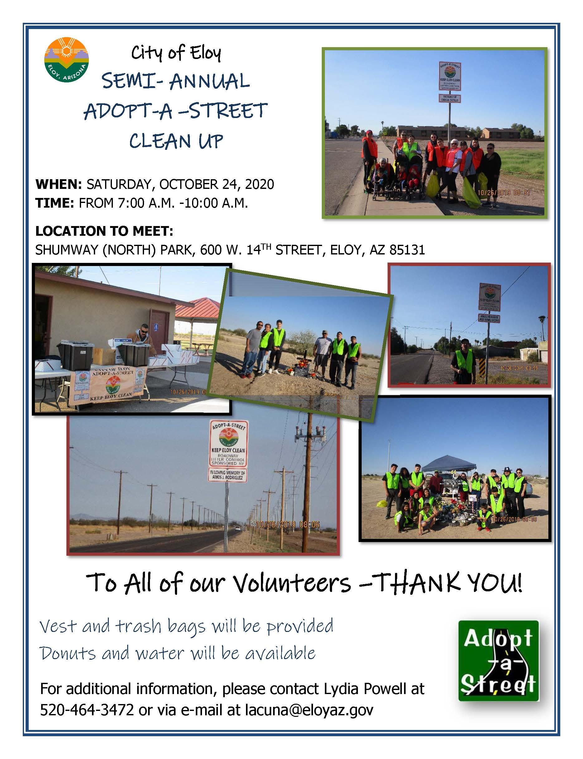 Adopt A Street Clean Up Flyer October 2020 PDF