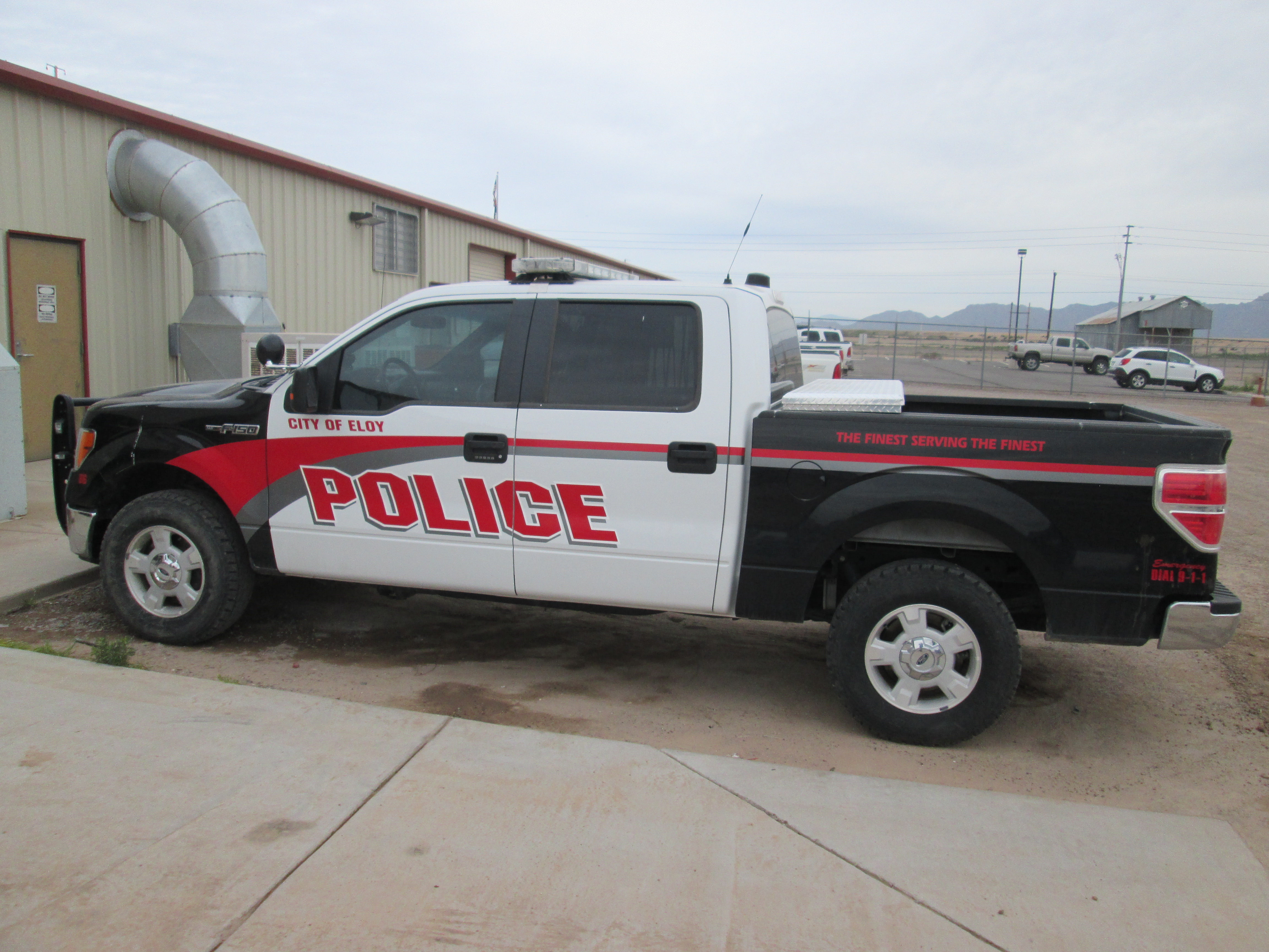 PD truck at City shop 2