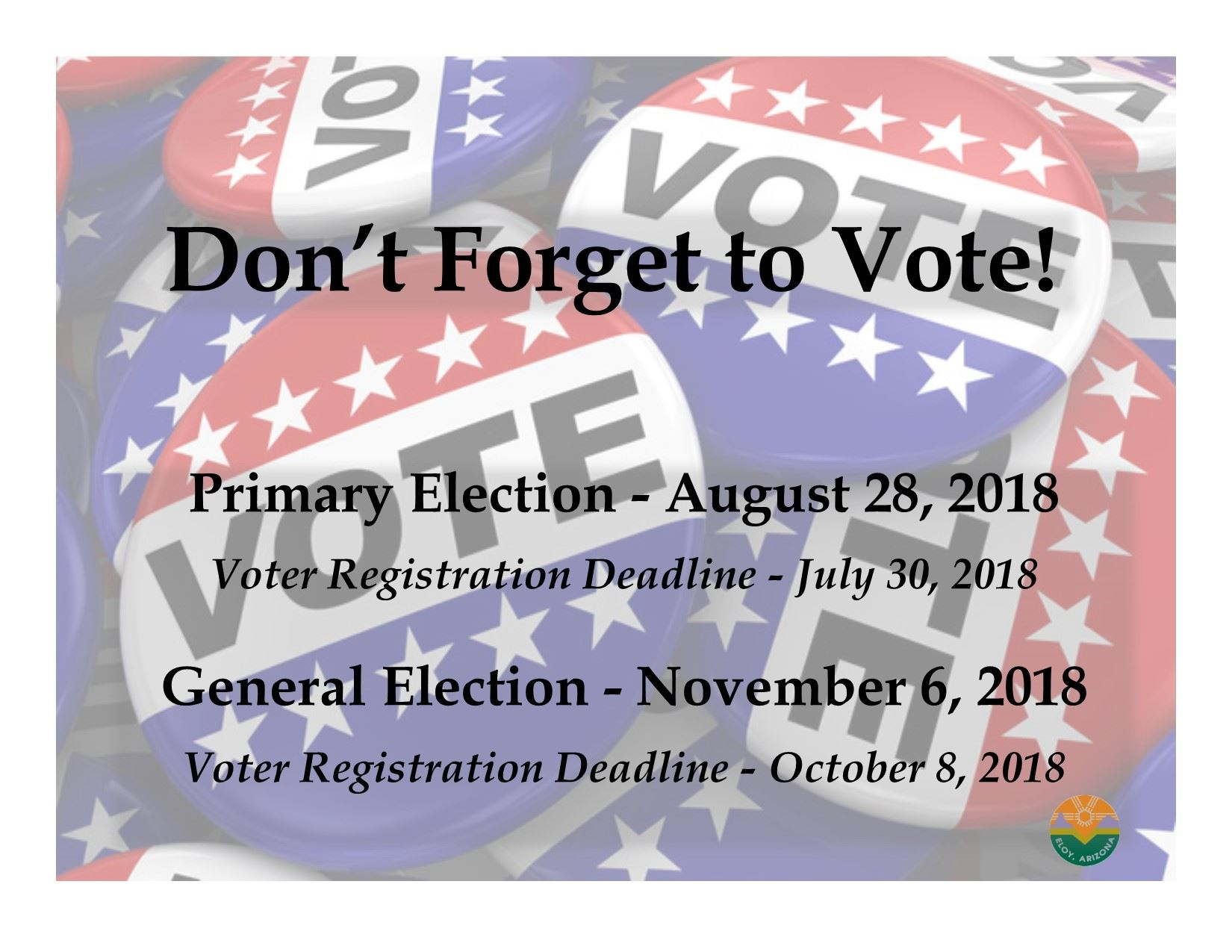 2018 Election Flyer with registration deadlines 2