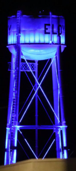 Picture of Eloy Water Tower Lit Blue